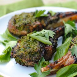 Herb-Crusted Grilled Lamb Chops - Whip up a quick herb and spice rub to make this simple restaurant-quality meal at home! | foxeslovelemons.com