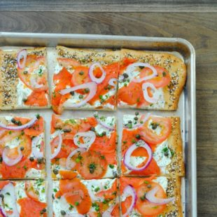 everything bagel pizza with lox foxes love lemons
