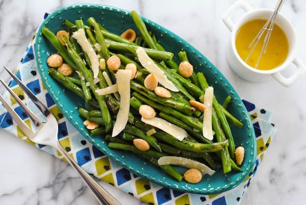 Grilled Green Beans with Marcona Almonds