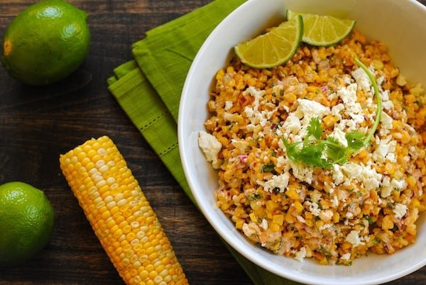 Mexican Street Corn Salad | Sangria Party Week 2014 | foxeslovelemons.com