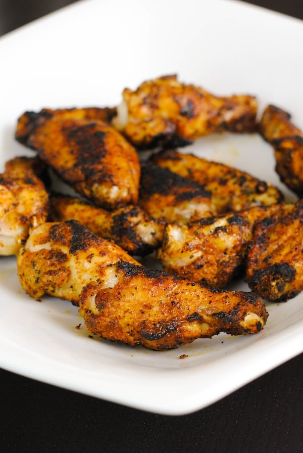 Shawarma-Spiced Grilled Chicken Wings | Sangria Party Week 2014 | foxeslovelemons.com