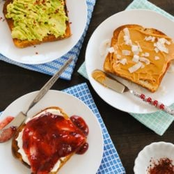 Toast Three Ways - Ideas to turn boring old toast into an interesting morning meal. | foxeslovelemons.com