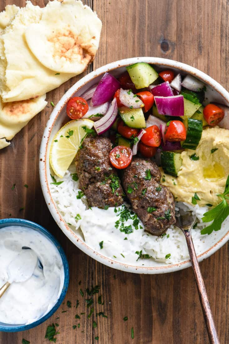 Easy Kafta Recipe Beef Kafta Sandwich Or Bowl Foxes Love Lemons