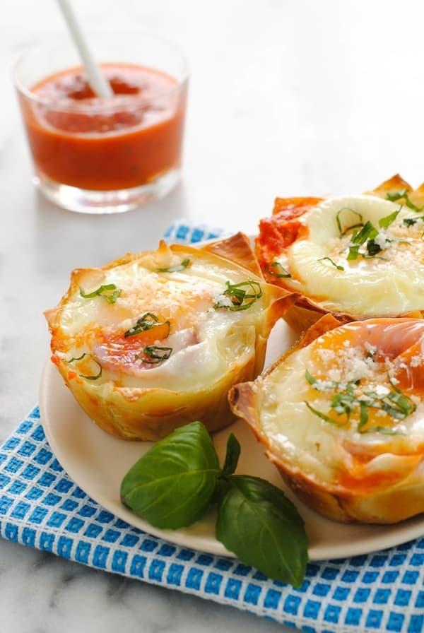 Italian Egg Wonton Cups
