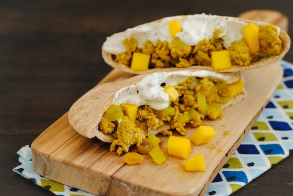 Curried Turkey Pitas