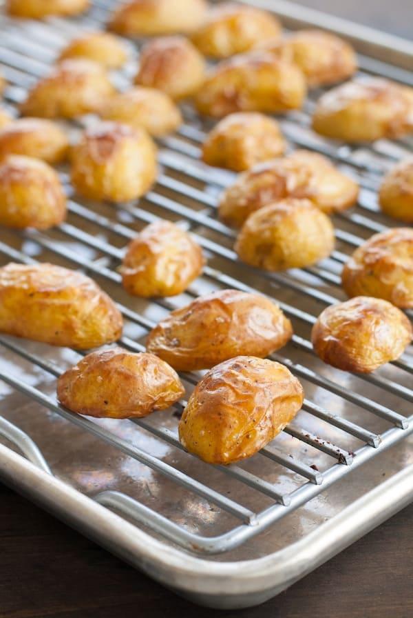 Super Crispy Roasted Potatoes with Shallot-Rosemary Yogurt - A simple ...