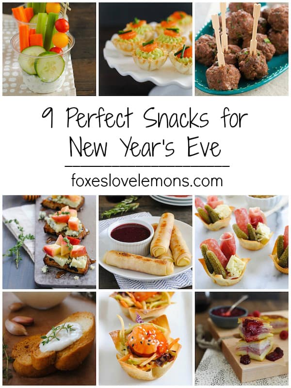 9 Snacks Perfect for New Year's Eve