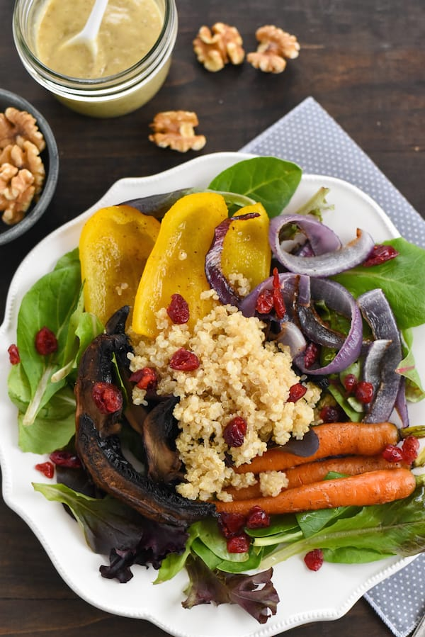 Roasted Vegetable & Quinoa Salad with Creamy Walnut ...