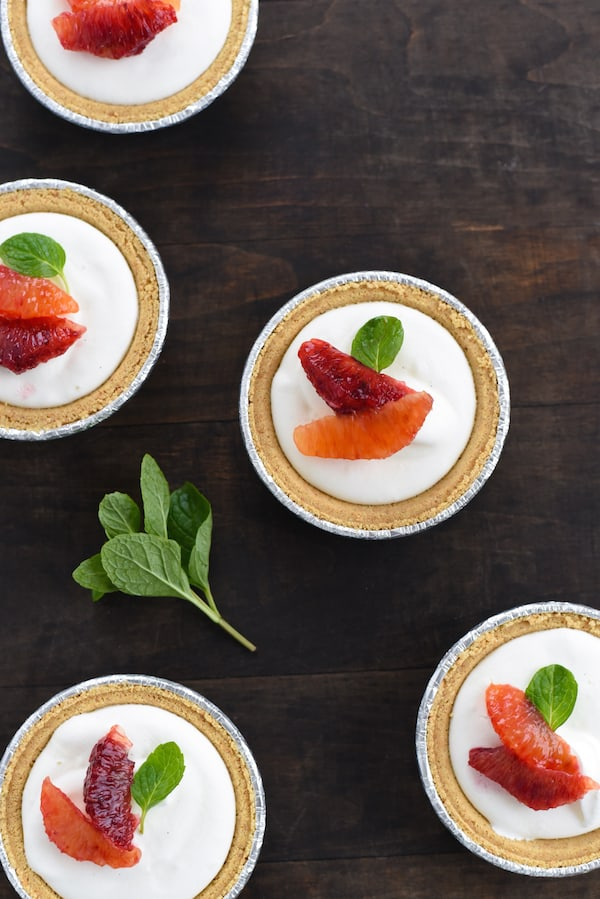 Mini Blood Orange & Frozen Yogurt Tarts