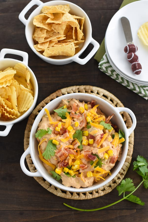 Smoky Barbecue Chicken, Bacon & Corn Dip