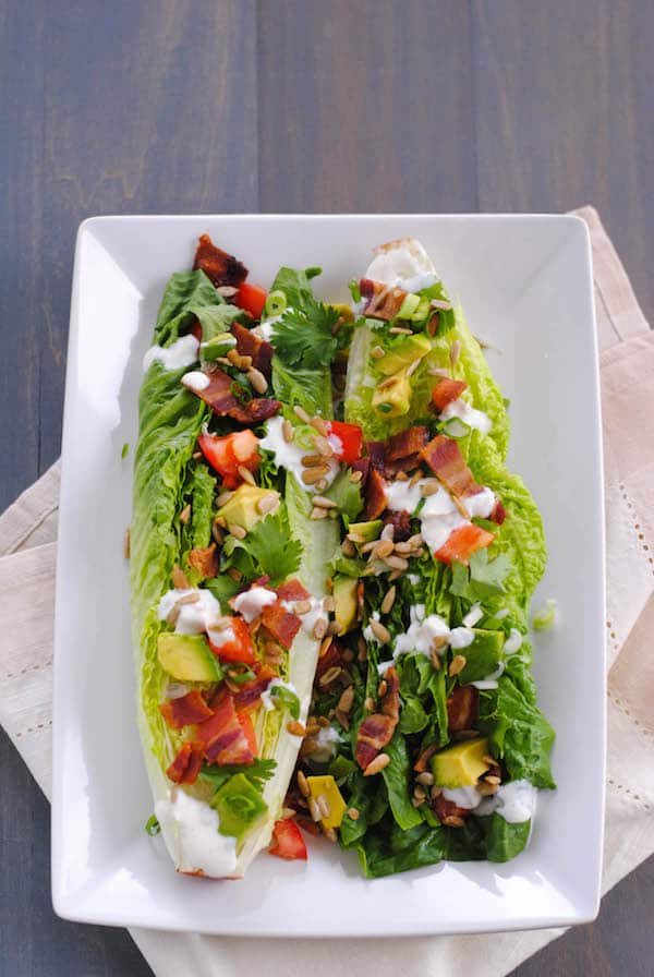 Southwestern Wedge Salad with Green Chile Yogurt Dressing