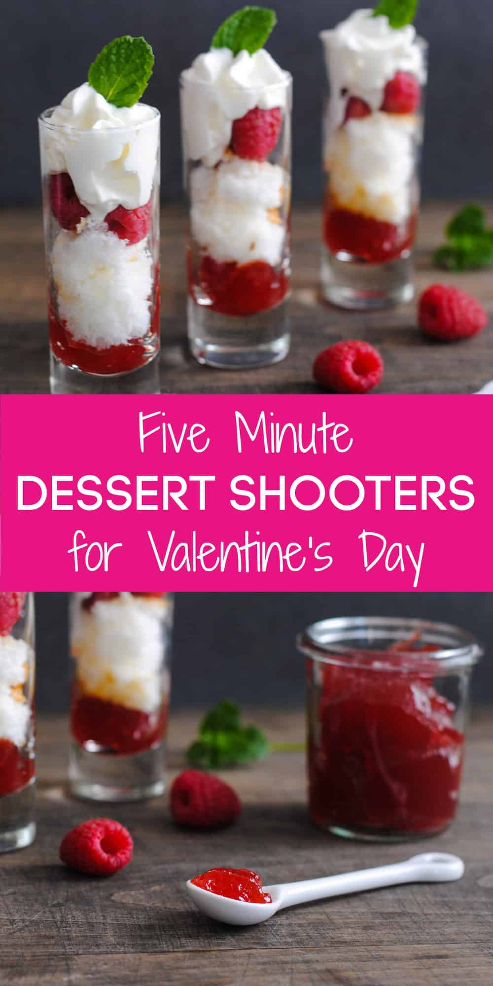 Looking for a light Valentine's Day Dessert after a decadent meal? These five minute shooters are a simple, fresh and sweet treat for your Valentine!   foxeslovelemons.com