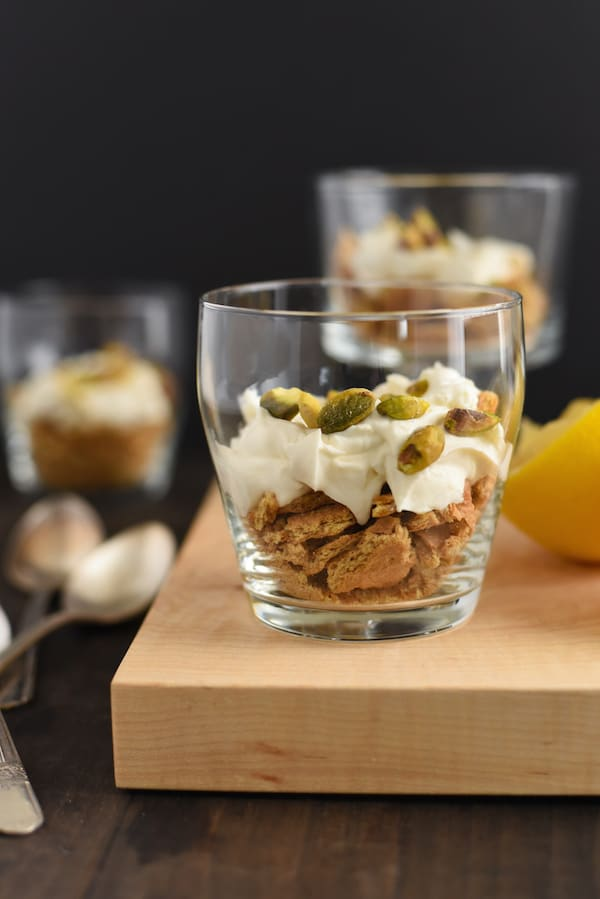 Lemon Mascarpone, Graham Cracker & Pistachio Parfaits
