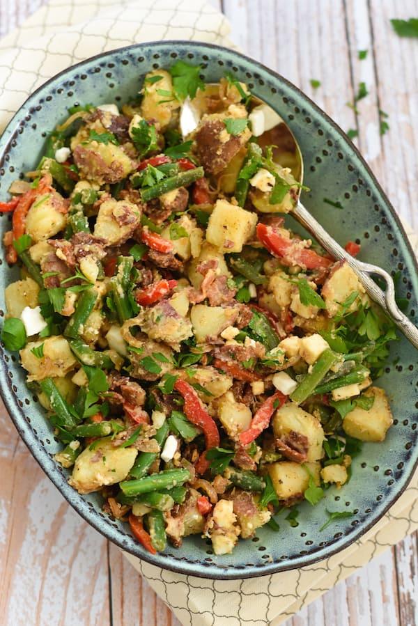 Bacon-Feta Potato & Green Bean Salad - Foxes Love Lemons