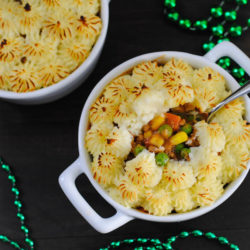 Mini Shepherd's PIes - Make-ahead individual casseroles, perfect for St. Patrick's Day, or any time you're in the mood for comfort food! | foxeslovelemons.com