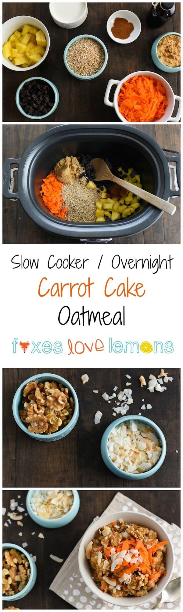 Slow Cooker Carrot Cake Oatmeal Recipe