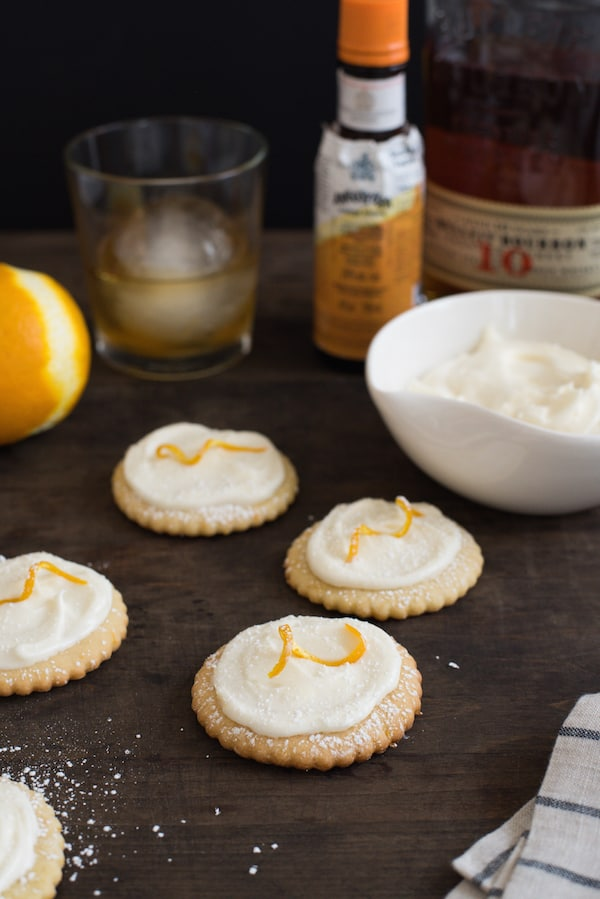 Bourbon Old Fashioned Cocktail Cookies