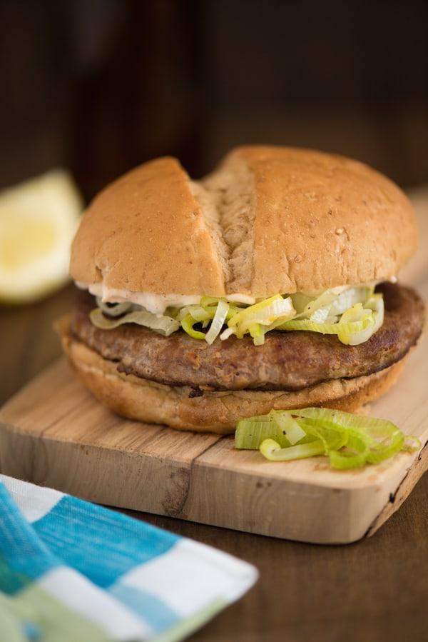Good Night & Good Leek Turkey Burgers