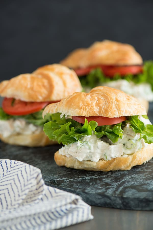 Greek Yogurt Ranch Chicken Salad Sandwiches