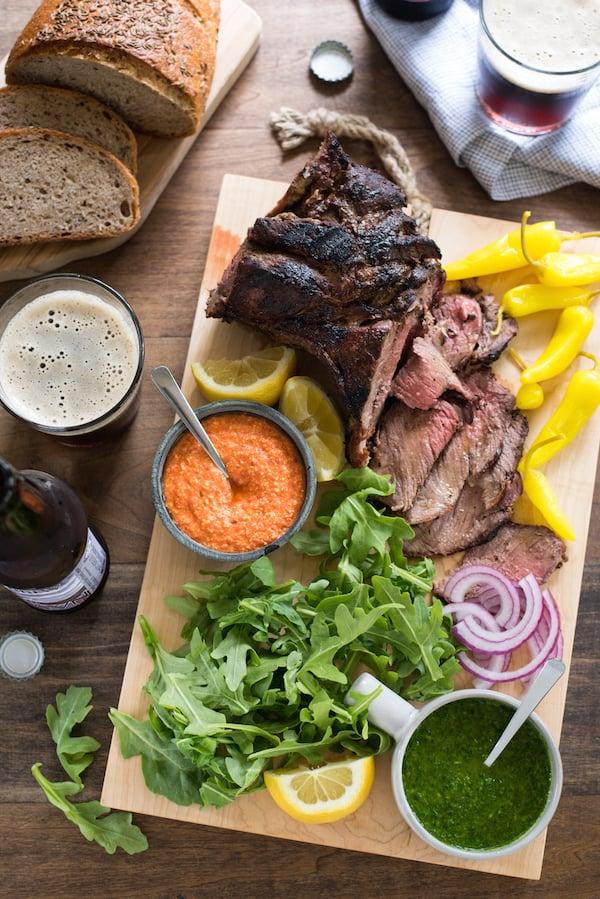 Grilled Lamb Sandwich Platter