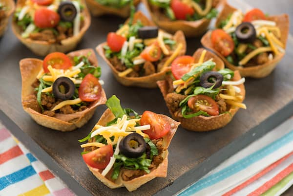 Mini Turkey Taco Salads