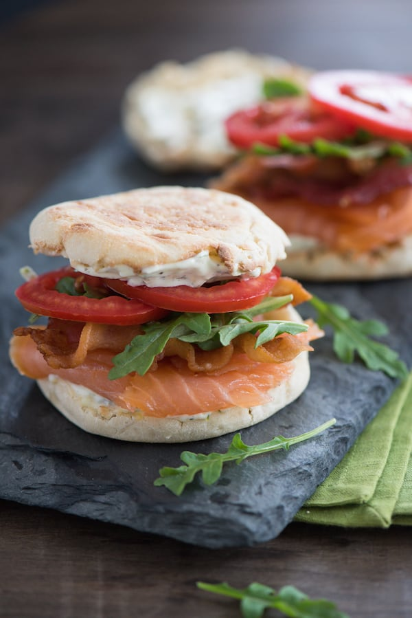 Smoked Salmon BLT with Lemon-Herb Mayonnaise - A fun twist on a ...