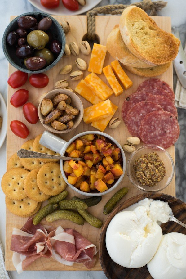 Summer Cheese Amp Charcuterie Board With Spicy Peach Chutney