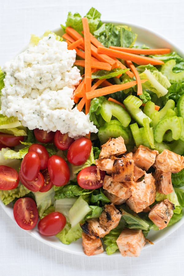 Buffalo Chicken Salad with Ranch Cottage Cheese