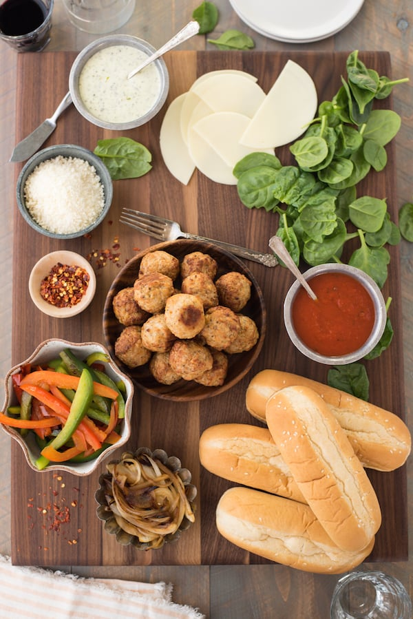 Build-Your-Own Meatball Sub Platter