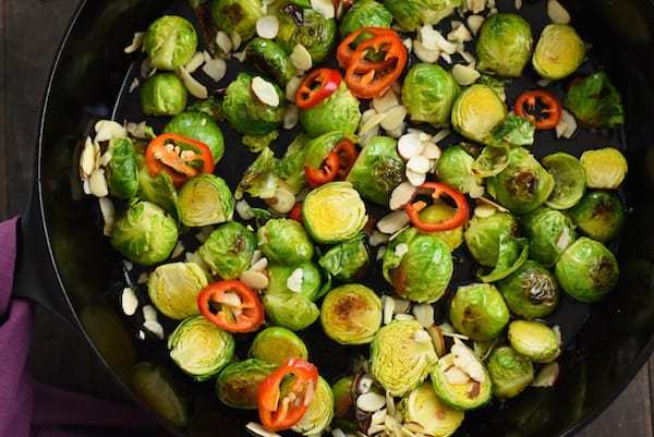 Lemon & Maple Glazed Roasted Brussels Sprouts