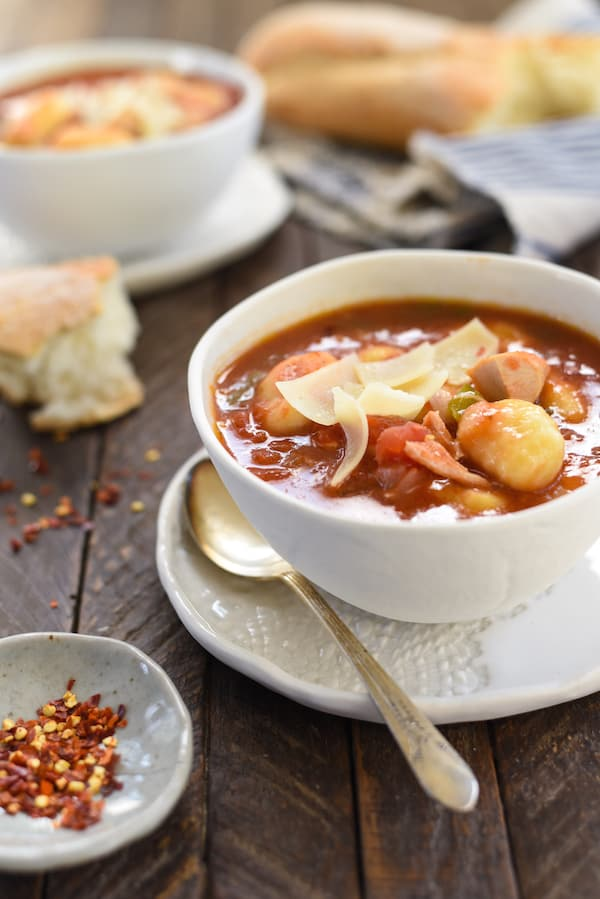 Turkey & Gnocchi Arrabiata Soup