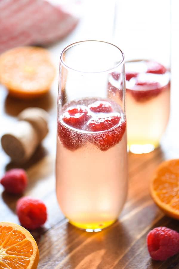 Clementine & Raspberry Rosé Fizz