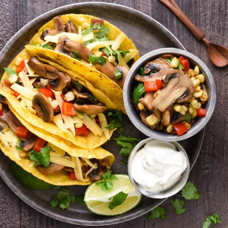 Mushroom & Gouda Tacos