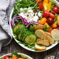 Everything Bagel Cottage Cheese Power Bowls - A bright and vibrant lunch to power you through a long afternoon! | foxeslovelemons.com