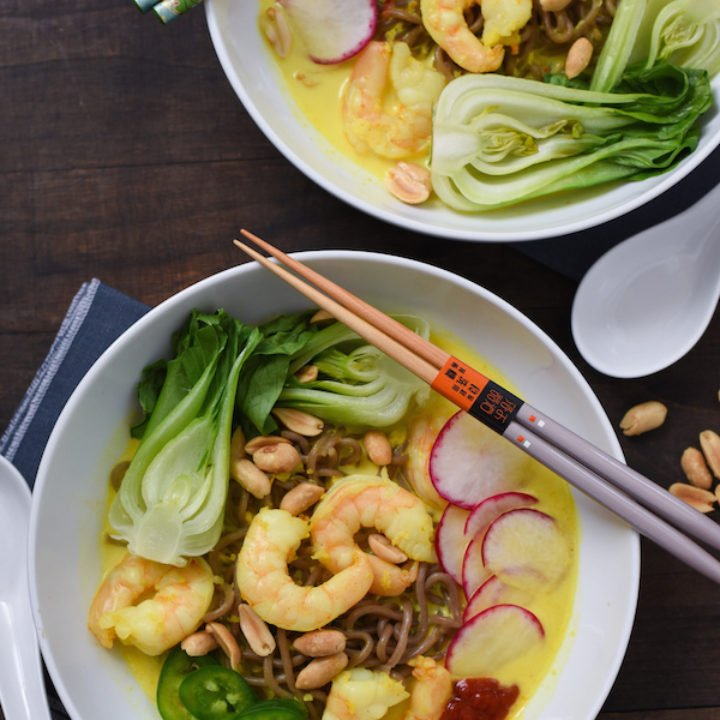 Thai-Style Curry Shrimp & Noodle Bowls