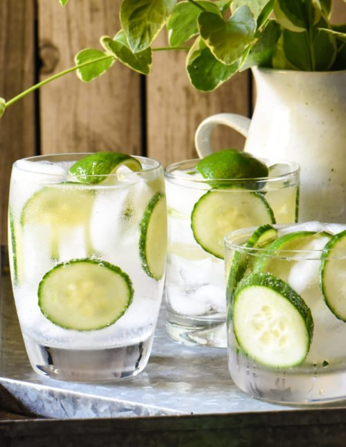 Cucumber & Triple Lime Gin Seltzer - Stir up a batch of this refreshing take on a classic summer cocktail for your next get-together! | foxeslovelemons.com