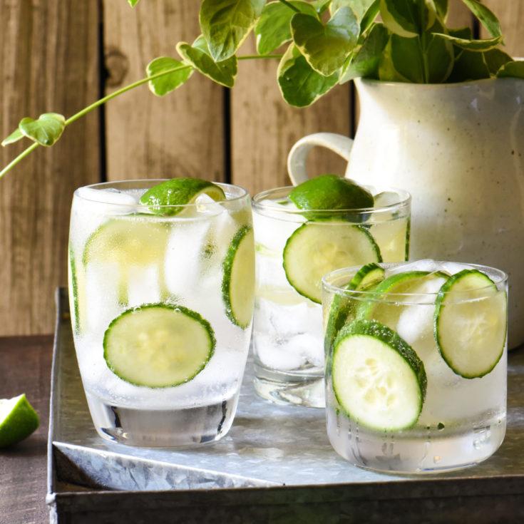 Cucumber & Triple Lime Gin Seltzer