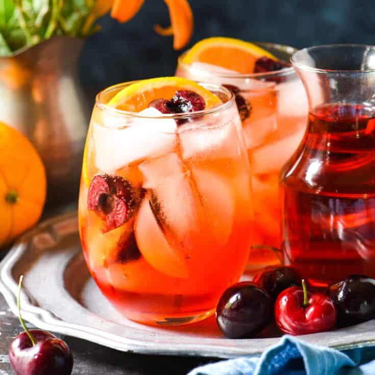 Cherry & Ginger Prosecco Spritz