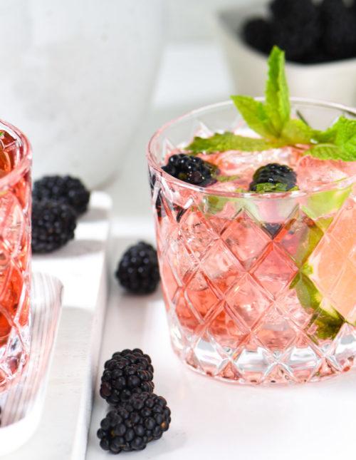 Blackberry Tequila Mojito - A fun twist on a refreshing classic! | foxeslovelemons.com
