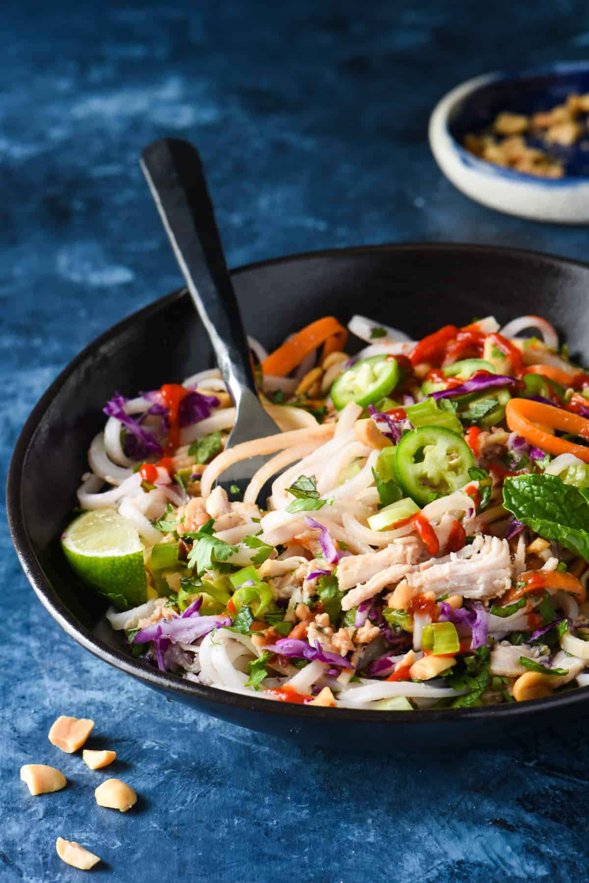 Slow Cooker Thai Turkey Noodle Bowls - A simple slow cooker meal with a flurry of fresh ingredients. | foxeslovelemons.com