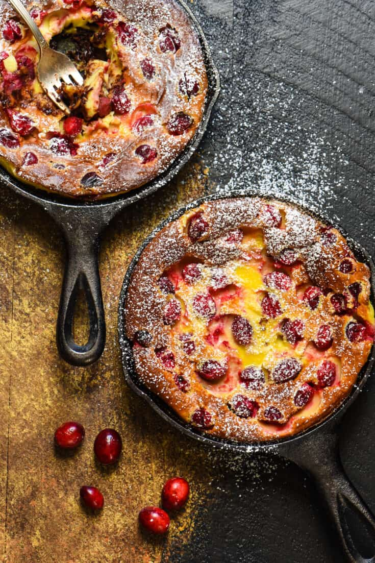 Cranberry Chocolate Chip Clafoutis