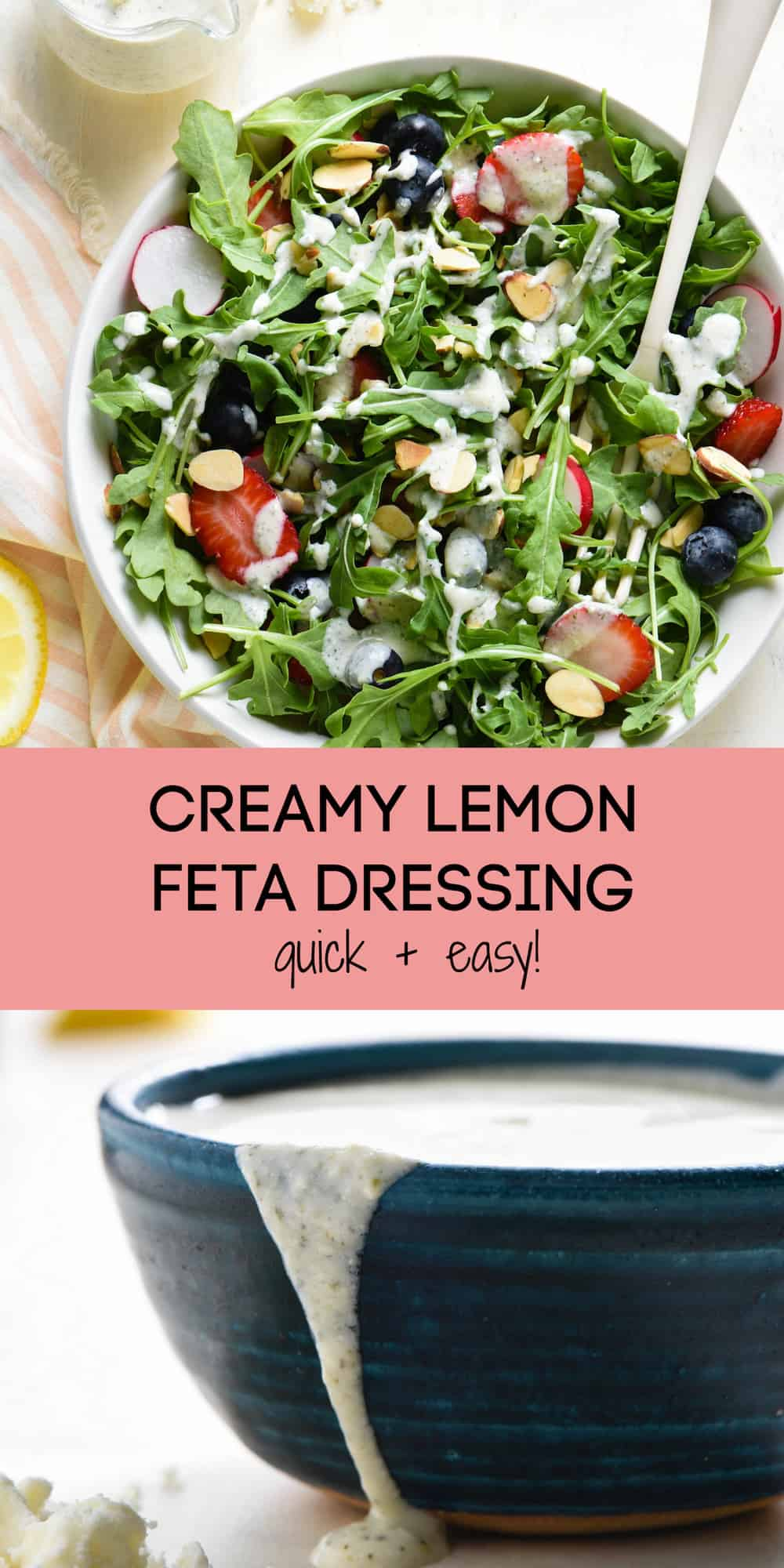 Creamy Lemon Feta Dressing - Foxes Love