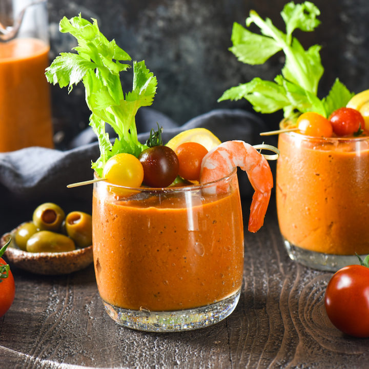 Roasted Campari Bloody Marys