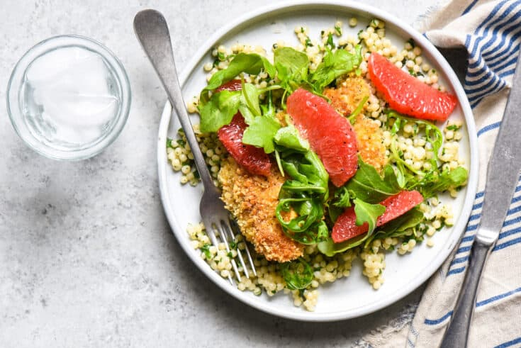 Cashew Chicken with Couscous & Grapefruit