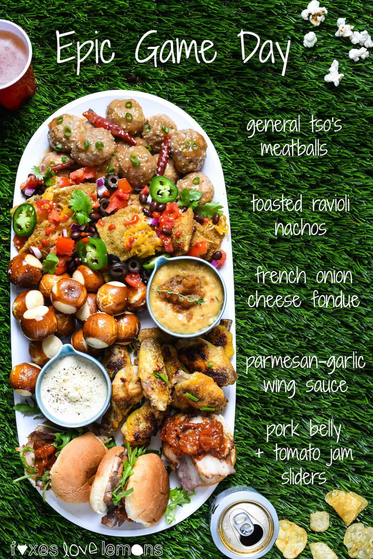Epic Game Day - A flavor-packed, chef-inspired game day feast that YOU can make at home! | foxeslovelemons.com