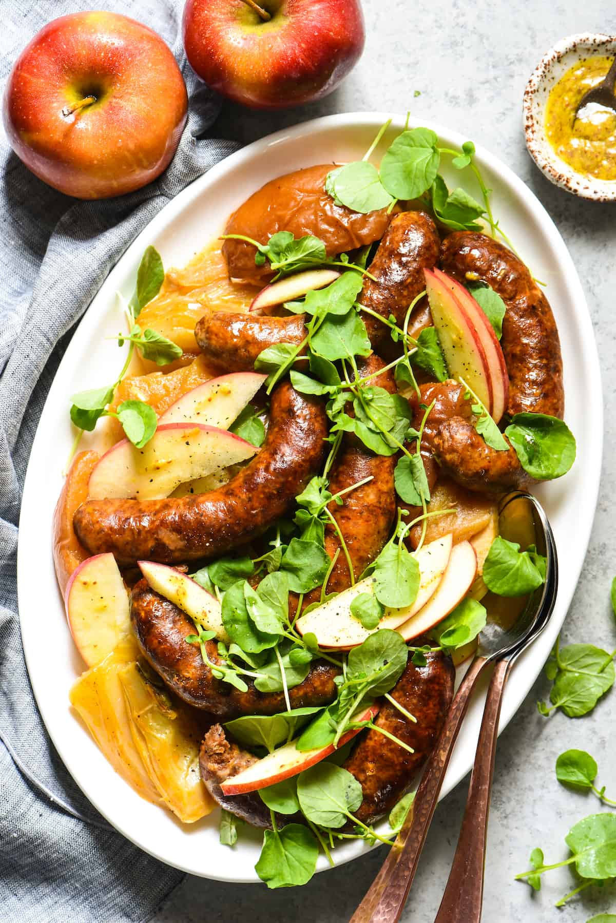 "Slow Cooker Sausage, Apples & Fennel - A simple but flavorful slow cooker dinner for the ""home chef."" 