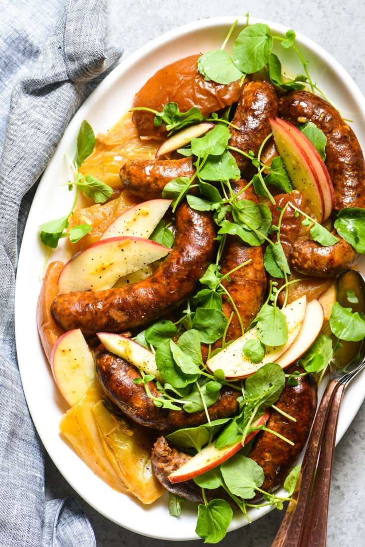 Slow Cooker Sausage, Apples & Fennel
