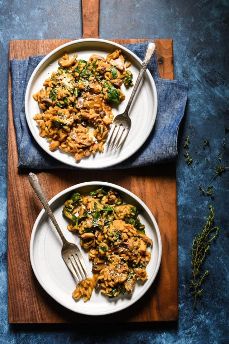 Mushroom Risotto with Lots of Kale