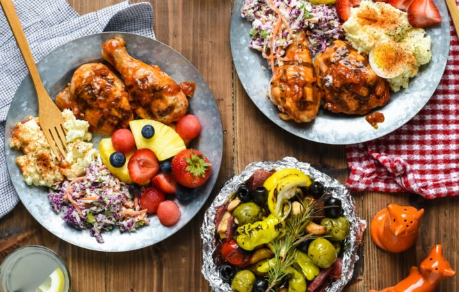 """Epic Barbecue Party - Celebrate summer by hosting a backyard party or picnic and serving this """"home chef"""" menu that will be loved by all ages! 