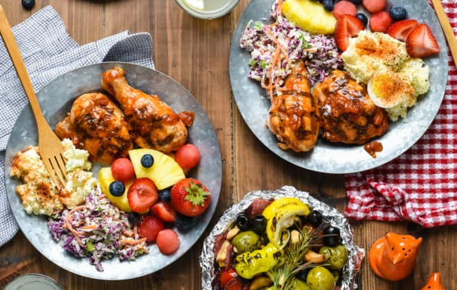 """Epic Barbecue Party - Celebrate summer by hosting a backyard party or picnic and serving this """"home chef"""" menu that will be loved by all ages!   foxeslovelemons.com"""